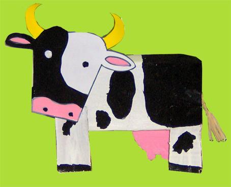 Корова поделка для малышей 12